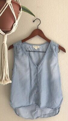 29b6c49c237b ANTHROPOLOGIE CLOTH AND Stone Button Down Top Shirt Size Large ...