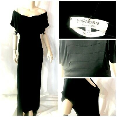 4cef59ceae45bc YSL By Tom Ford Black Yves saint Laurent dress panel bandage style 38 US 6 M