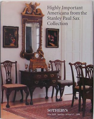 Sax Collection of Antique American Furniture Silver Miniatures Textiles &c