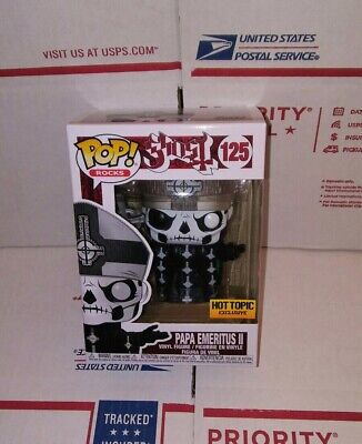 Funko Pop Rocks Ghost: Papa Emeritus Ii #125. Hot Topic Exclusive. In Hand.