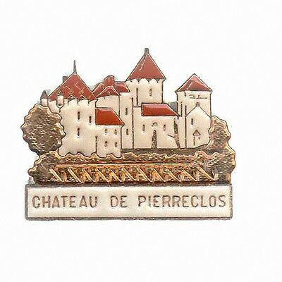 Rare Pins Pin's .. Tourisme Chateau Castle Pierreclos 71 ~A6