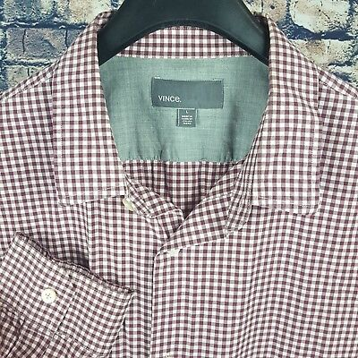 89bfb507 MENS FILTHY ETIQUETTE Shirt Large Purple Gingham Long Sleeves 100 ...