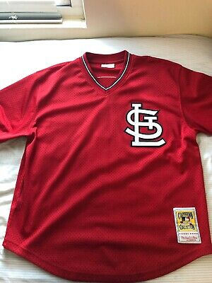 e60b1b8b4 Ozzie Smith Mitchell & Ness 1996 St Louis Cardinals Jersey Authentic Used  48XL