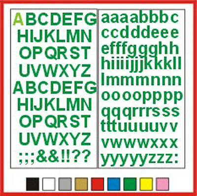 STICKY LETTERS Impact 20mm OR 25mm high vinyl alphabet set any colour