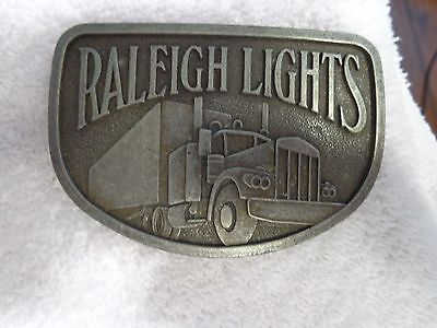 Vintage Belt Buckle Raleigh Lights Semi Truck Buckle Great Collectible,cigarette
