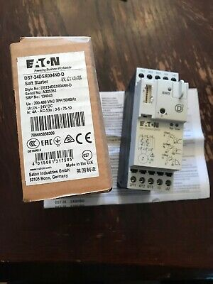 Eaton DS7-34DSX004N0-D Soft Starter.  NEW IN BOX Free Shipping!