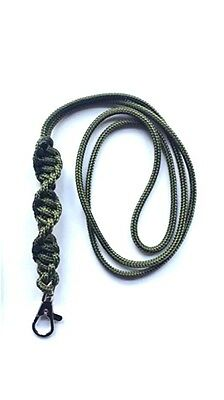 Barley Twist Design Dog Whistle Lanyard In Olive Green - For ACME Whistle
