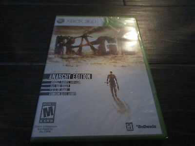 NEW Sealed Rage -- Anarchy Edition (Microsoft Xbox 360, 2011)