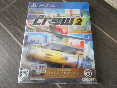 NEW The Crew 2 Gold Edition Steelbook with Season Pass Microsoft Xbox One Game