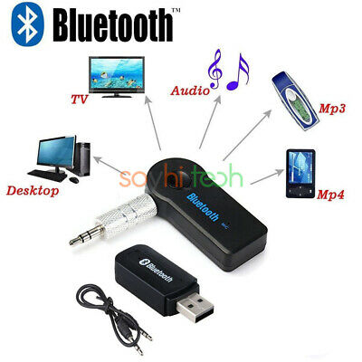 3.5mm USB Mini Bluetooth3.0 Wireless Aux Stereo Audio Music Car Adapter Receiver