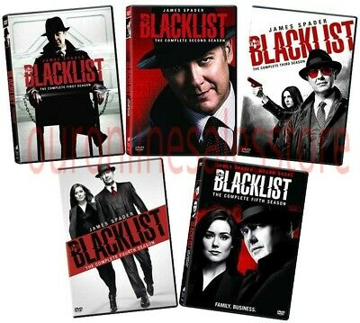 The Blacklist Complete Series All Seasons 1-5 DVD Box Set Collection Episodes R1