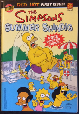 Bongo Comics Simpsons Summer Shindig # 1 VG with poster