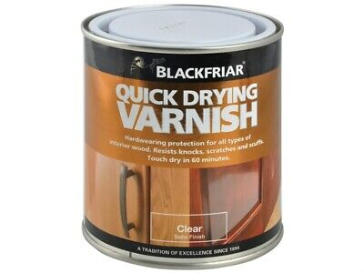Blackfriar BKFQDDVCS250 Quick Drying Duratough Interior Varnish Clear Satin 250m