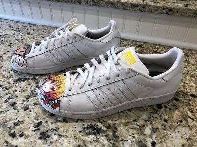 3444220db0dd6 Adidas X Pharrell Williams Men Superstar Supershell Shell Toe Shoes Sz 10  Anime