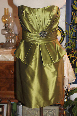 Strapless Taffeta Dress Prom Long Gown #5754 Wedding Party Formal Bridesmaid
