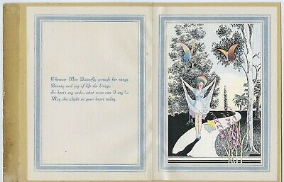 C.1920's Adelaide Postal Art Deco Greeting Card Artist K C Dow Good Cond Y60