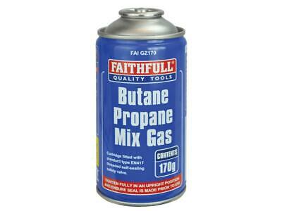 Faithfull FAIGZ170 Butane Propane Gas Cartridge 170g