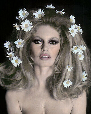 BRIGITTE BARDOT FRENCH ACTRESS HOLLYWOOD MOVIE STAR 8x10 HAND COLOR TINTED PHOTO
