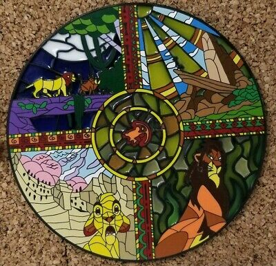 Disney The Lion King Stained Glass Jumbo Fantasy Pin Le 100 9000