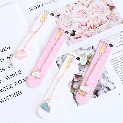 Novelty Cherry Sakura Pendant Bookmark Stationery School Office Supply Escolar