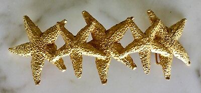"Rare Mimi Di N Signed Massive Starfish 7.5"" Long Gold Metal Belt Buckle Vintage"
