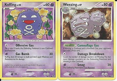 Pokemon Cards: Weezing 87/111 & Koffing 68/111 Rising Rivals! NM