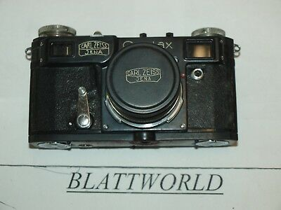 BLACK CONTAX II RANGEFINDER CAMERA with 50mm F2.0 CARL ZEISS JENA SONNAR LENS