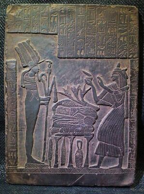 Egyptian Antique Antiquities Seti I Getting Gifts Stela Relief 2292-2279 Bc