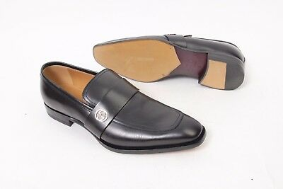 8ce1ff6f30c GUCCI  DOUBLE G  Interlocking G Loafer Shoes Black Mens 10 US 9 UK ...
