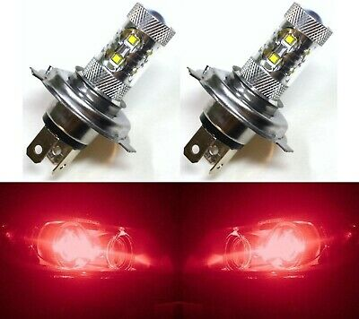 Led 50w Hs1 12v Rosso Due Lampadine Luce Testa Ricambio Moto Scooter
