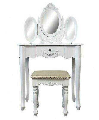 NEW Dressing Table with 3 Mirrors and Stool - Bouquet House,Dressing Tables
