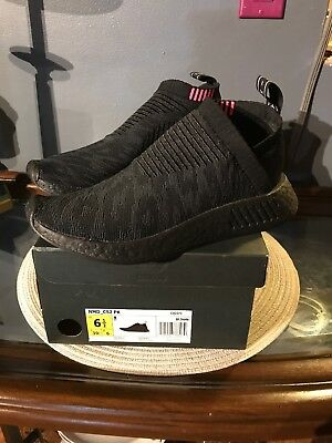 23fd2080b8c83 ADIDAS ORIGINALS NMD CS 2 Primeknit Black Boost City Sock Pink Slip ...