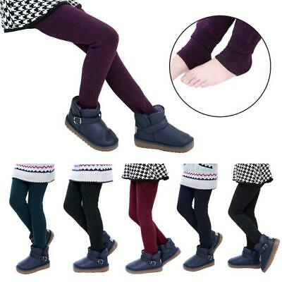 Girls Child Baby Leggings Comfortable Cotton Thick Warm Elastic Waist trousers