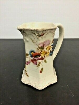 Antique European 19th Century Victorian Style Hand Painted Porcelain Creamer Cup