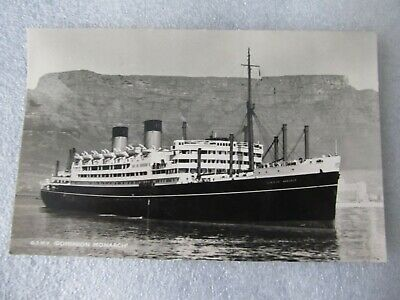 Vintage Postcard - Shaw Savill Line Q.S.M.V. Dominon Monarch Ship