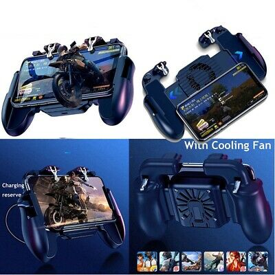 USA For IOS Android PUBG Mobile Phone Game Controller Joystick Gamepad+Cool Fan