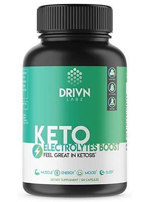 Keto Electrolyte Capsules - 120 Count - Energy Supplement for a Low Carb Diet