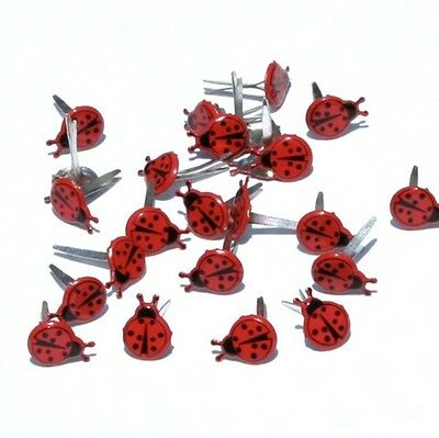 LOVE BUG BRADS ** 2 CUTE ** C MY STORE ** EYELET OUTLET  8 PCS LADYBUGS 2 COLORS