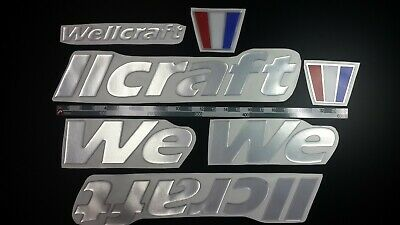 "Wellcraft Boats Emblems 29"" chrome + FREE FAST delivery DHL express -Sticker Set"