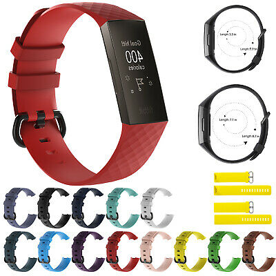 For Fitbit Charge 3 Strap Replacement Silicone Watch Band Wrist Band