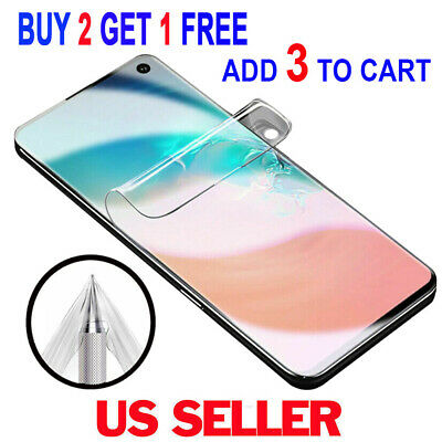 FULL COVER Soft HD Screen Protector For Samsung Galaxy S10+ Plus S10e S9 Note 9