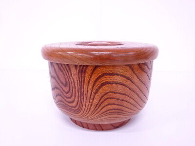 4091246: Japanese Lacquered / Zelkova Rice Container