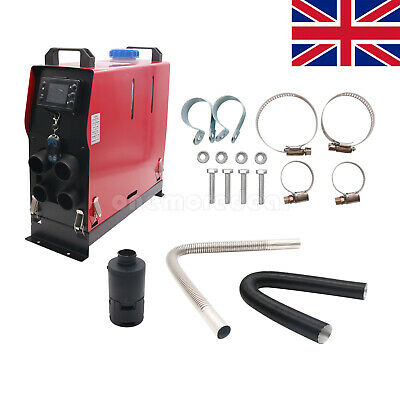 12V 5KW Air Diesel Heater 5000W 4 Holes LCD Monitor PLANAR Trucks Boats Bus UK
