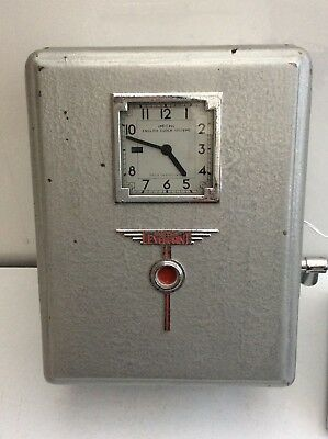 Smiths Everprint Clocking In Clock 1940s Era Complete Industrial Station Vintage