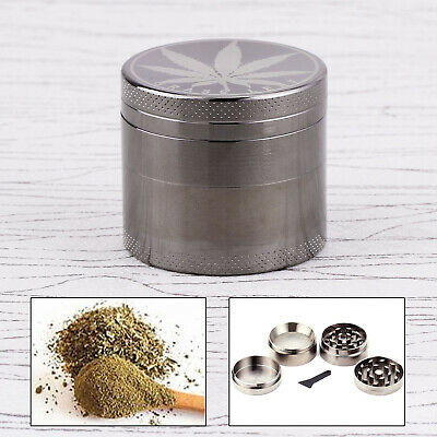 Couleur Carbone 40mm Epice Broyeur a main Moulin Herbe pollen 4 couches Grinder
