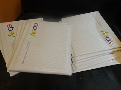 "10(Lot) Branded eBay Blue Text Padded Bubble Airjacket Envelopes 6.5"" x 8.75"""