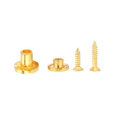 Pair of Electric Guitar Bass String Tree Retainer with Screws Guitar Parts Gold