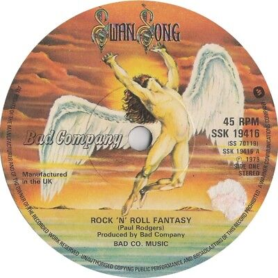 "Bad Company Rock 'N' Roll Fantasy  1979  7"" Vinyl 45rpm"