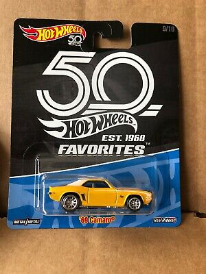 HOT WHEELS DIECAST Real Riders 50th Anniversary Favorites  -'69 Camaro