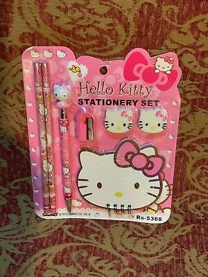 A Very Cute Vintage 1976 Sanrio Hello Kitty Stationary Letter Set